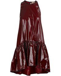 N°21 Vinyl Dress - Red
