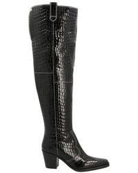 Ganni Western Boots - Black