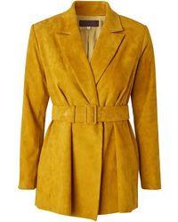 Stouls Pierre Leather Jacket - Yellow