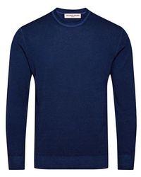 Orlebar Brown Pull Hutchison LS - Bleu