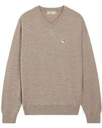 Maison Kitsuné Fox Wool Sweater - Multicolour