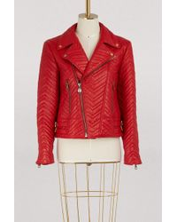 Gucci - Quilted Leather Biker Jacket - Lyst