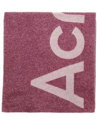 Acne Studios Schal Toronty mit Logo - Lila