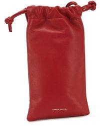 Mansur Gavriel Pillow Neck Pouch - Red
