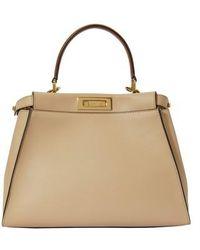 Fendi Peekaboo Handbag - Natural