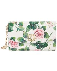 Dolce & Gabbana Floral Printed Clutch Bag - Green