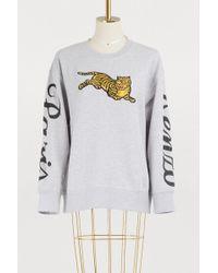 KENZO - Cotton Jumping Tiger Sweatshirt - Lyst