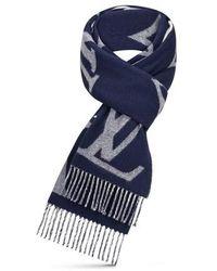 Louis Vuitton Monogram Capital Schal - Blau