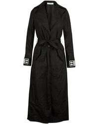 Off-White c/o Virgil Abloh Fitted Trench Coat - Black