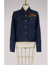 Olympia Le-Tan - I Do My Own Thing Denim Jacket - Lyst