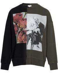 Alexander McQueen Hybrid Round Neck Sweatshirt - Black