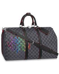 Louis Vuitton Keepall 50 mit Schulterriemen - Mehrfarbig