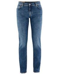 Acne Studios Enge Jeans - Blau