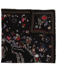 Alexander McQueen Skull And Butterfly Shawl - Black