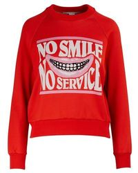 "Stella McCartney ""no Smile No Service"" Jumper - Red"