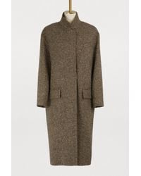 32 Paradis Sprung Freres - Detroit Long Tweed Coat - Lyst