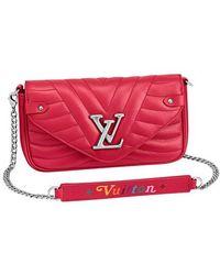 Louis Vuitton New Wave Chain Pochette - Red