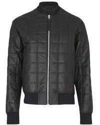Bottega Veneta Paded Leather Jacket - Black