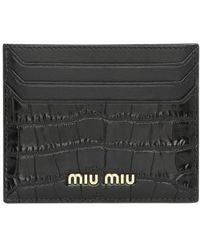 Miu Miu Porte-cartes - Noir
