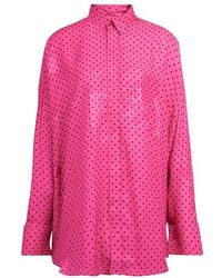 Balenciaga Fluid Scarf Tuxedo - Pink