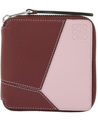 Loewe Puzzle Square Zip Purse - Pink