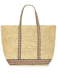 Vanessa Bruno Large Raffia Cabas Tote Bag - Multicolor