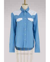 AMI - Shirt With Contrasting Pockets - Lyst