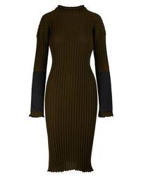 Bottega Veneta Long Sleeved Midi-dress - Black