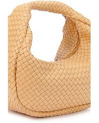 Bottega Veneta Hobo Leather Bag - Natural