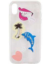 RIMOWA Stickers Iphone Xs Transparent Phone Case - Multicolor