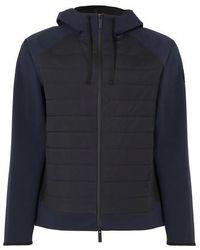 Woolrich Bonded Fleece Full Zip Hoodie - Blue