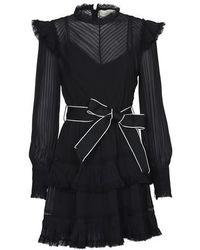 Zimmermann Pintuck Mini Dress - Black