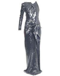 Roland Mouret Delamere Long Dress - Blue