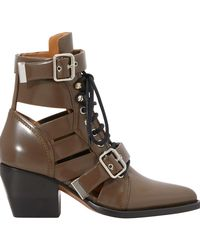 Chloé Rylee Ankle Boots - Brown