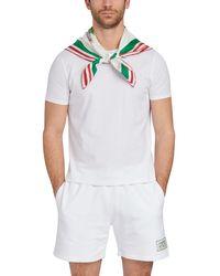 CASABLANCA Foulard en soie Casa Tennis Club - Vert