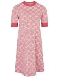 Gucci GG Motif Dress - Pink