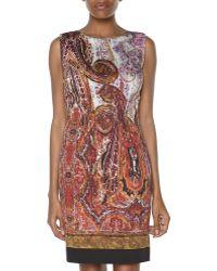 Rachel Roy Sleeveless Paisley Print Scoop Neck Dress - Lyst