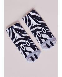 Missguided Zebra Socks - Multicolor