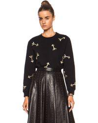 Carven Embroidered Arrows Cotton Sweatshirt - Lyst