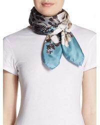 Roberto Cavalli Mixed Print Silk Scarf - Lyst