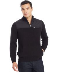 Kenneth Cole Reaction Long-Sleeve Half-Zip Sweater - Lyst