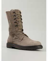 Ann Demeulemeester Lace Up Boots - Lyst