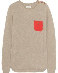 Chinti & Parker Contrastpocket Cashmere Sweater - Lyst