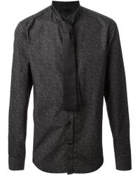 Alexander McQueen Tie Detail Shirt - Lyst