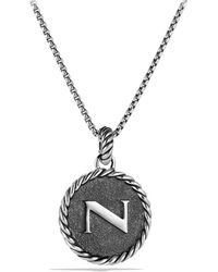 David Yurman Cable Collectibles Initial Charm - Metallic