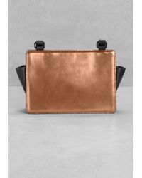 & Other Stories Leather Cross-Body Bag - Metallic