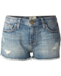 Current/Elliott Cropped Shorts - Lyst