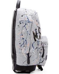 MSGM Grey Paint_splatter Logo Backpack - Lyst