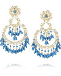Isharya - Sultana Bali Goldplated Beaded Earrings - Lyst