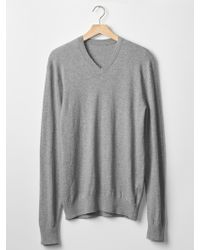 Gap Cotton Slub V-Neck Sweater - Lyst